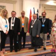 Setkání na české ambasádě v Izraeli. Vlevo Delana Mikolášová